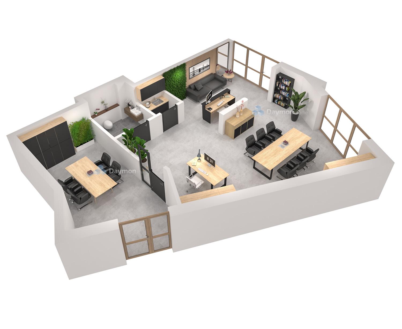 Projekt kancelarii 3d