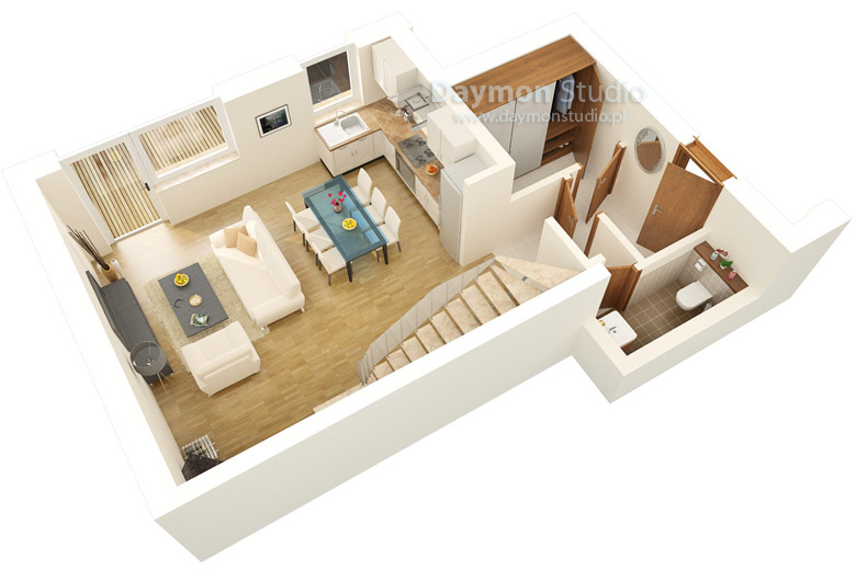 Ground Floor Plan 3d
