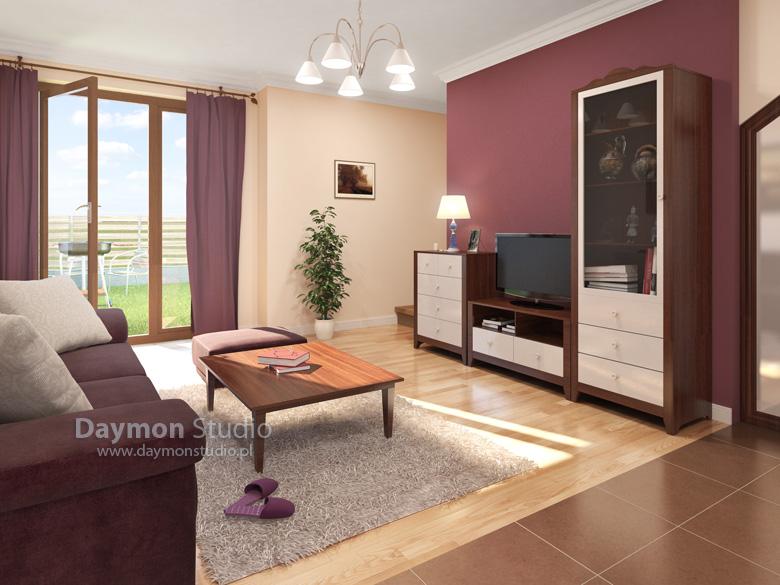 wizualizacja wn trza klasycznego salonu 2. Black Bedroom Furniture Sets. Home Design Ideas